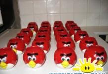 Angry Birds van wasbollen