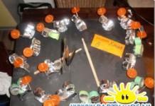 Drumstel traktatie van plastic bekers