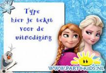 Frozen uitnodiging