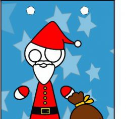 traktatietas kerstman