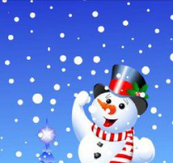 traktatietas sneeuwpop