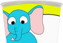 beker met olifant en eigen naam