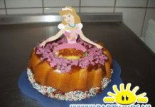 prinsessentaart als rok van barbiepop