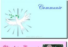 Communie uitnodiging met je eigen foto