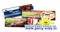 Voetbal chocoladereep met eigen tekst