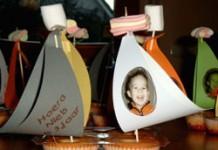 Zeilboot met foto (op cake)