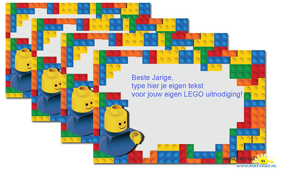Vaak Lego uitnodiging - party-kids.nl @CW82