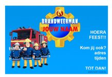 Brandweerman Sam uitnodiging