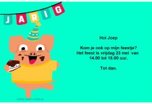 Feestvarken uitnodiging